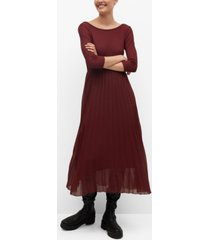 mango women's pleated skirt dress