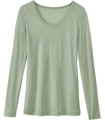 enna, biologisch zijden shirt met lange mouwen, bleekgroen 44