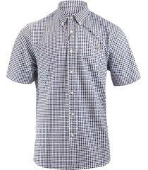oxford piqué overhemd met korte mouwen
