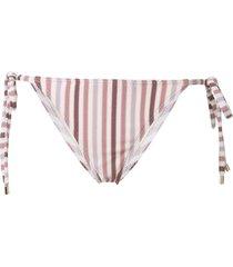 peony stripe bikini bottoms - purple