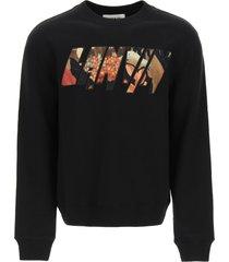 lanvin logo patch sweatshirt