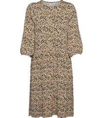 mabea 3/4 dress aop dresses everyday dresses beige moss copenhagen