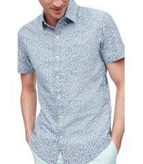 men's bonobos riviera slim fit floral short sleeve button-down shirt, size xx-large - blue