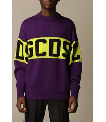 gcds sweater gcds pullover in wool blend with logo