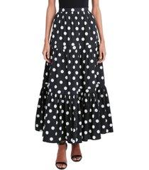 bcbgmaxazria polka-dot tiered skirt
