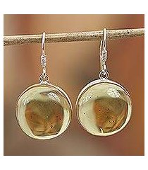 amber dangle earrings, 'amber sunset' (mexico)