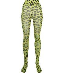 philipp plein leopard print tights - green