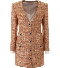 alessandra rich tweed mini dress with sequins