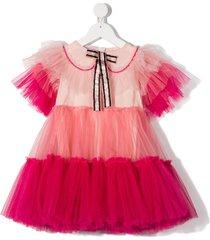 raspberry plum mirella tulle tiered dress - pink