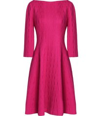 flared jacquard-knit cotton-blend dress
