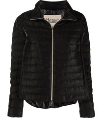 herno flared down-feather jacket - black
