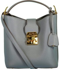 pewter murphy small leather bucket bag