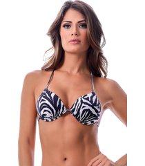 top summer soul triângulo com bojo zebra