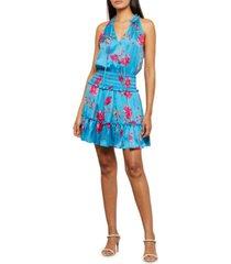 bcbgmaxazria floral-print smock-waist dress