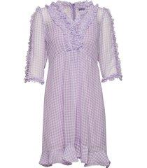 zelena short pepita korte jurk paars line of oslo
