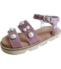 sandalia marrón ladyskay