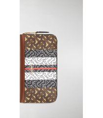 burberry monogram stripe e-canvas and leather ziparound wallet