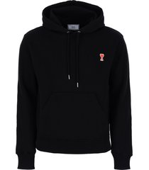 ami alexandre mattiussi hoodie with ami de coeur patch