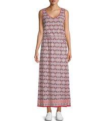 printed sleeveless maxi dress