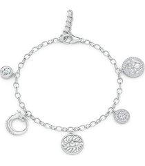 natori kamon charm bracelet, women's, gold natori