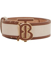 burberry monogram tb motif belt - neutrals
