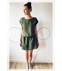 sukienka pure len zieleń