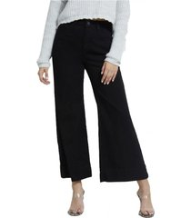 jeans high rise wide leg odx negro guess