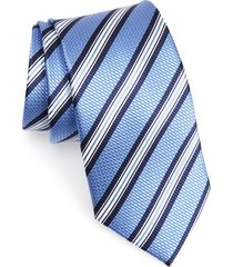 men's nordstrom men's shop stripe silk tie, size regular - blue