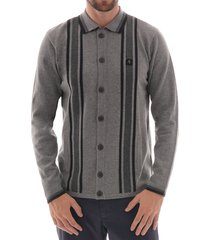 guido knitwear cardigan - grey v43gm15-gry
