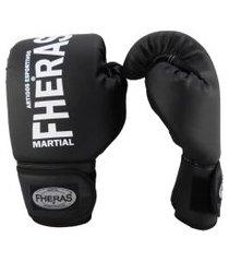 luva boxe muay thai fheras new trade preto  04 oz .