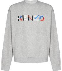 kenzo logo cotton oversized sweatshirt