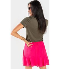 beliza godet ruffle skirt - pink