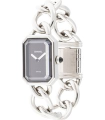 chanel pre-owned pre-owned premiere quartz 17mm - silver