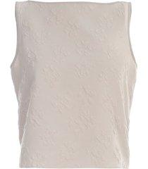 jacquard sleeveless top
