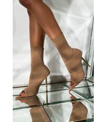 akira azalea wang give me some sugar baby stiletto bootie in taupe