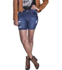 bermuda young style jeans meia coxa azul