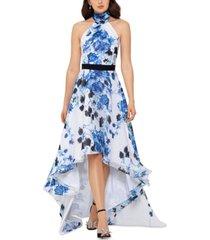 betsy & adam high-low halter dress