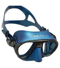 máscara de mergulho cressi calibro azul .