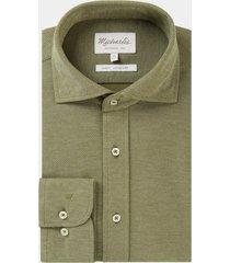 michaelis overhemd gebreid cutaway slim fit