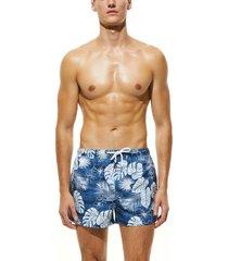 bañador de bolsillo con estampado tropical para hombres shorts de playa de secado rápido