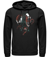 fifth sun men's marvel spider-man bad conscience fleece pullover hoodie