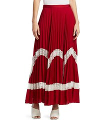 regina pleated maxi skirt
