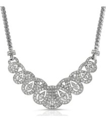 2028 crystal st. james club scalloped pave necklace