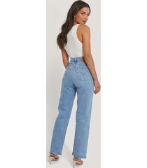 levi's ankellånga raka jeans med hög midja - blue