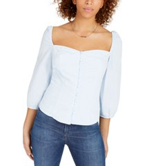 sage the label 3/4-sleeve sweetheart blouse