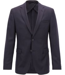 boss men's slim fit virgin wool jacket