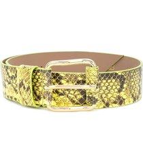 b-low the belt snakeskin-effect belt - green