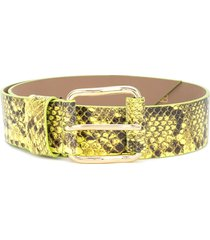 b-low the belt snakeskin-effect belt - green