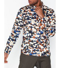 selected homme slhslimbryson-camo shirt ls aop w skjortor bone