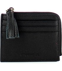 coccinelle womens black wallet